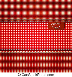 Fabric background for your design. Vector illustration