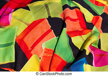 Fabric background - unshaped and colorful fabric background...