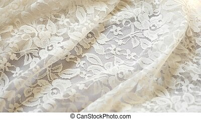fabric background. white lace pattern. texture, close-up