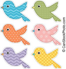 Fabric Birds Patterns