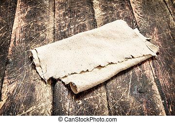 fabric., bois, table., vieux