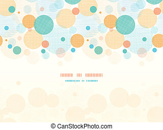 Fabric circles abstract horizontal seamless pattern background