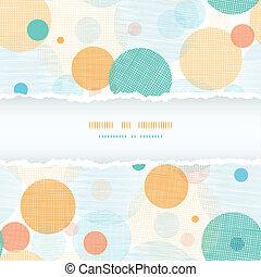 Fabric circles abstract horizontal seamless pattern...