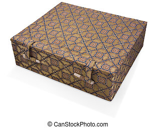 fabric covered oriental box