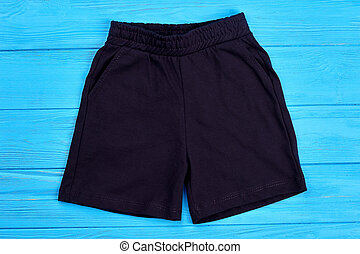 Fabric dark shorts for kids.