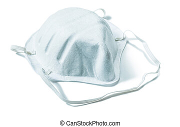 fabric filter safety mask isolated on white background close up