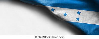 Fabric Flag of Honduras on white background - right top corner flag