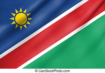 Fabric Flag of Namibia