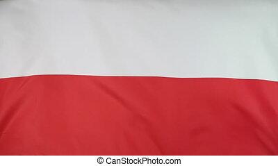 Fabric flag of Poland