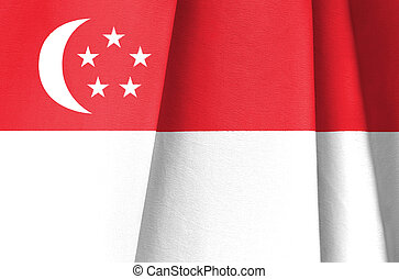 Fabric Flag of Singapore