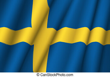 Fabric Flag of Sweden