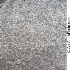 Fabric fleece, Color grey melange. Beautiful textile backdrop. Close-up. Top view