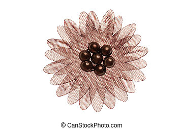 fabric flower for clothes on white