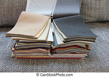 Fabric for upholstery the furniture - Samples of color of...