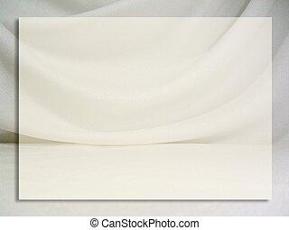 Fabric Frame - A draped fabric frame/background