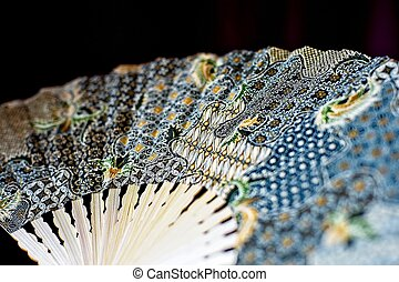 Fabric hand fan
