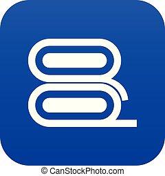 Fabric icon digital blue