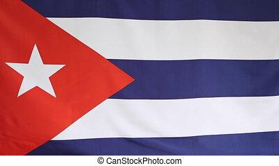 Fabric national flag of Cuba