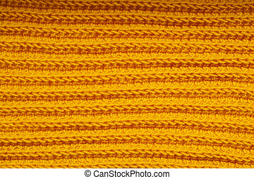 fabric orange knitted texture background with scarf clothing
