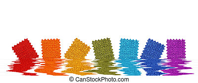 Fabric patterns in rendered water
