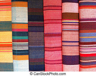 fabric  plaid Cotton of colorful background and abstract texture