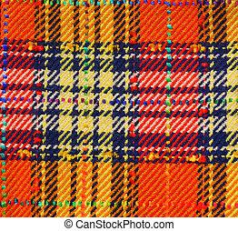 Fabric - Plaid fabric background