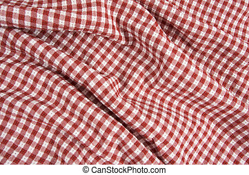 Fabric Red & White Gingham