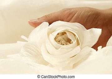 fabric rose