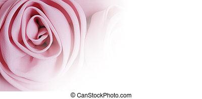 Fabric rose flower on white background