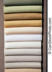 fabric samples for textil - Samples of fabric for textile...