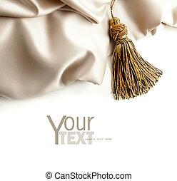 Fabric satin texture on white
