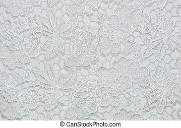 fabric., snørebånd, mønster, blomst