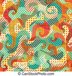 fabric spirals seamless pattern with grunge effect