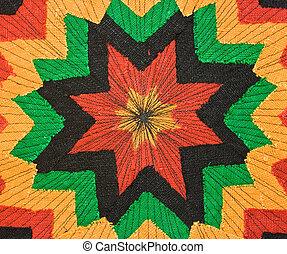 Fabric - Multicolor rastaman fabric as background