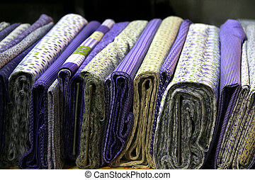 Fabric store - Big assortment of fabrics in the textile...