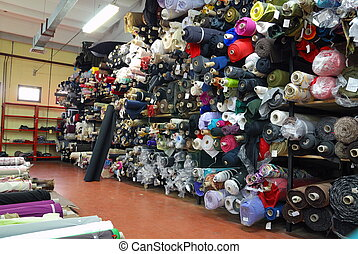 Fabric Store - fabric samples warehouse