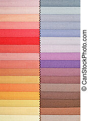 Color swatch picker for fashion fabric materials