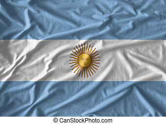 Fabric texture of the flag of Argentina