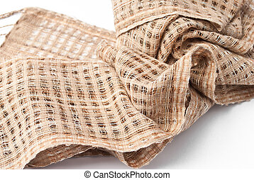 Fabric Texture on white background