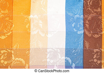 fabric texture silk. background. Vertical lines. Blue red...