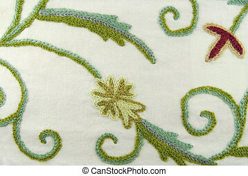 fabric texture with flowers