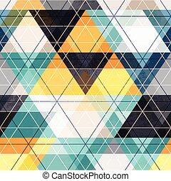 Fabric triangle seamless pattern