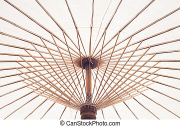 Fabric Umbrella Made from bamboo Structure