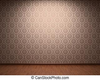 Fabric wallpaper - Illuminated fabric wallpaper