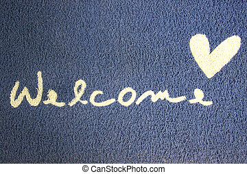 Fabric Wipe Foot and welcome text. - Fabric Wipe Foot and...