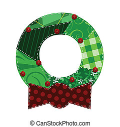 Fabric Wreath - Christmas wreath made out of fabric swatches...