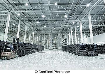 fabricación, bienes, constitución, grande, almacenamiento,...