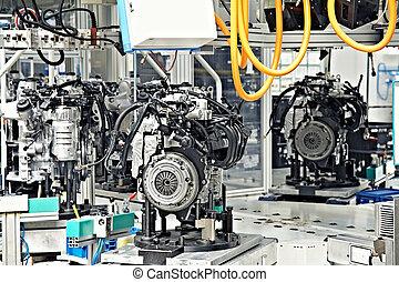 fabricación, de, motor coche