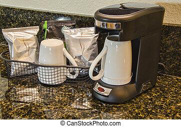 fabricant café, salle