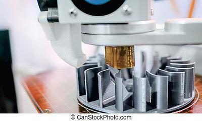 fabrication, 3d, imprimante, pendant, travail